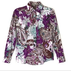Etro Floral and Paisley Print Button Down